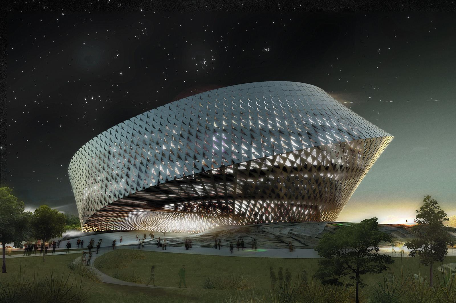 библиотека-раковина в Казахстане